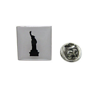 Square Iconic Statue of Liberty Lapel Pin